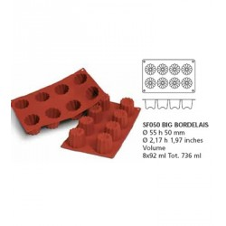 Moule silicone 8 grands cannelés bordelais