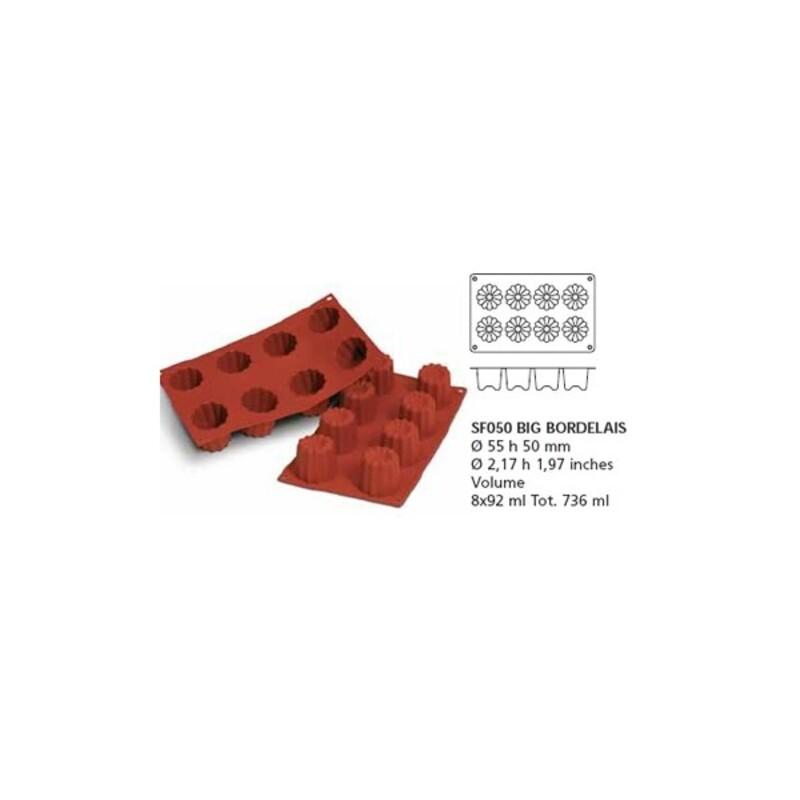Moule silicone 8 grands cannelés bordelais