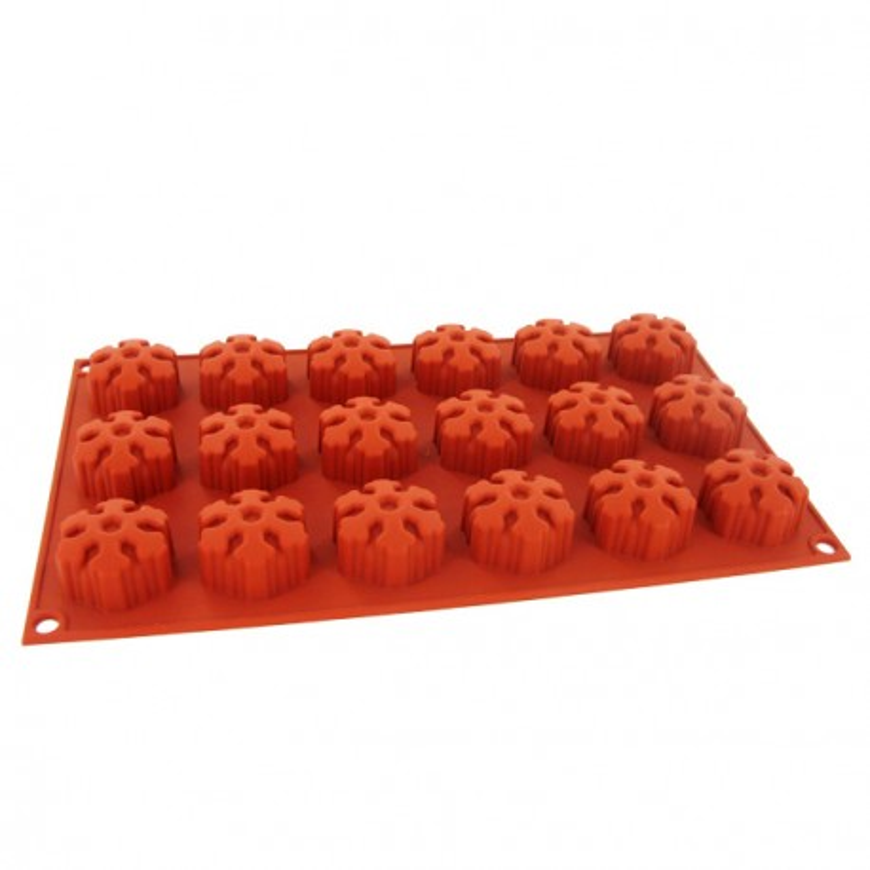 moule silicone souple 18 mini muffins flocons de neige 4. Black Bedroom Furniture Sets. Home Design Ideas