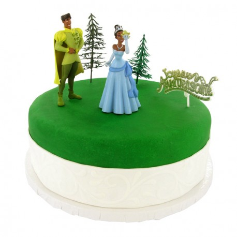 Decoration gâteau La Princesse et la Grenouille