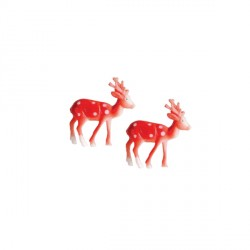 Petits cerfs en plastique 3,5 cm (x144)