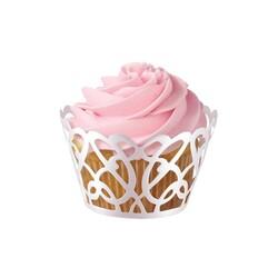 Contour cupcake dentelle blanc perle Wilton (x18)