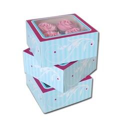 Boîte 4 cupcake Elegant Funcakes (x3)