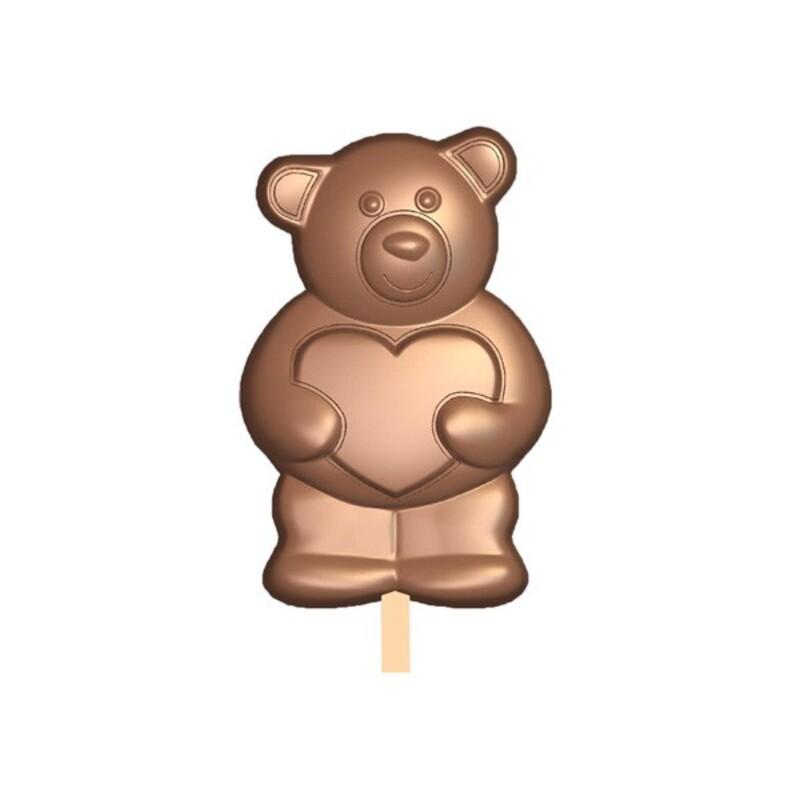 Moule Chocolat Sucettes Oursons Coeur
