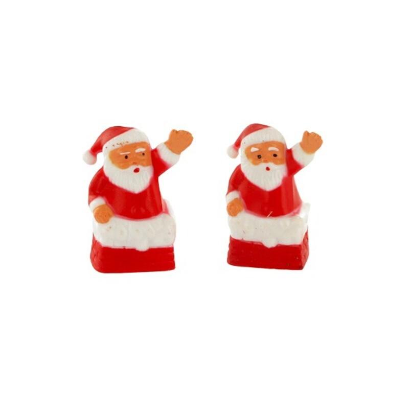 Père Noël dans la cheminée x72
