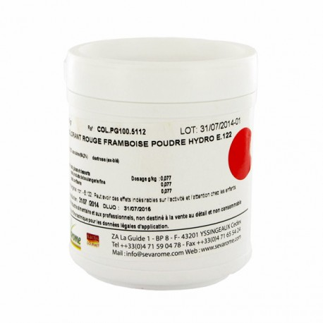colorant poudre alimentaire rouge framboise 100 g - Colorants Alimentaires En Poudre