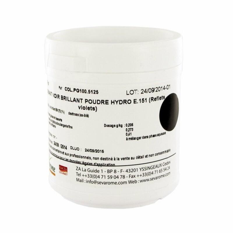 Colorant poudre alimentaire Noir Brillant 100 g