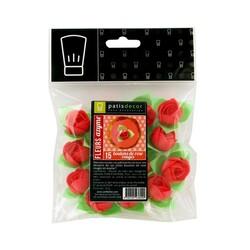 Boutons de rose rouge Patisdécor x15