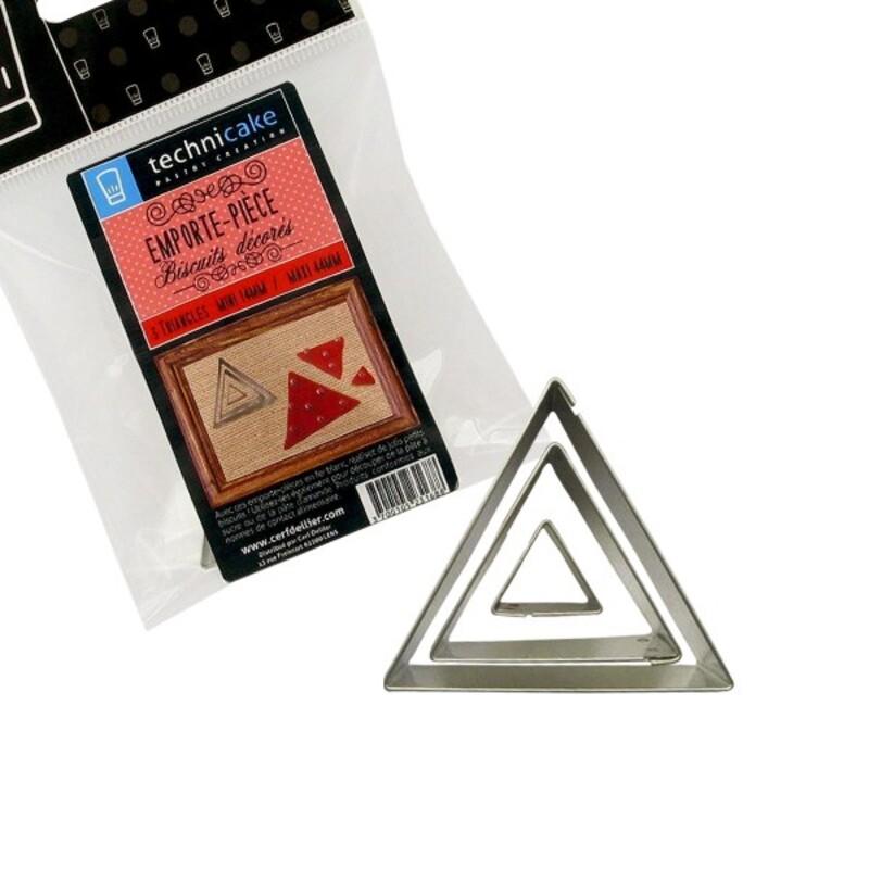 Emporte-pièce triangles (x3)