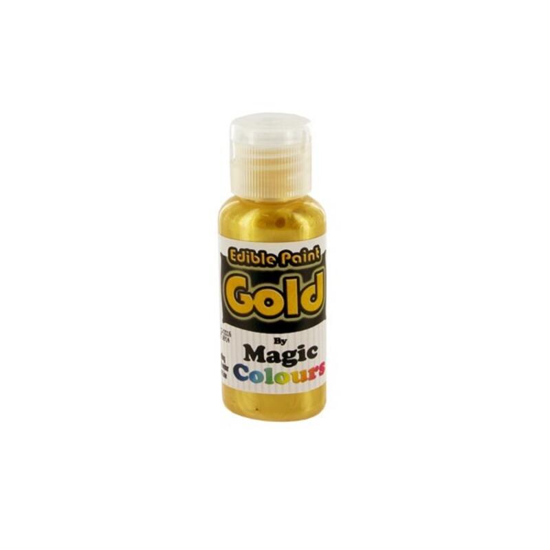 Peinture alimentaire dorée Magic colours cacher