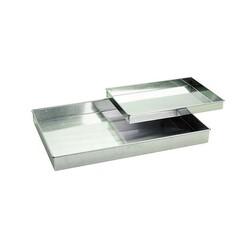 Caisse à génoise droite fer blanc 30 x 20 cm