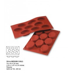 Moule silicone 9 ovales 70x50 mm
