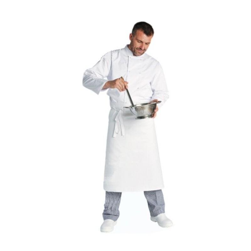 Tablier de chef blanc 100 x 55 cm