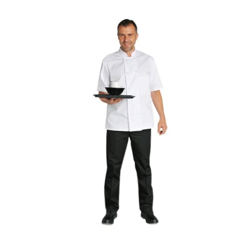 Veste manches courtes blanche