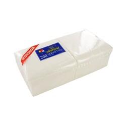 200 Serviettes en papier blanches 1 pli
