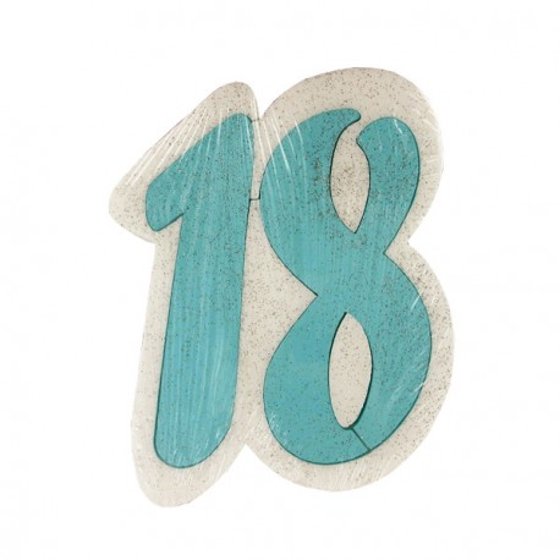 Dummy chiffre 18 bleu Gatodéco