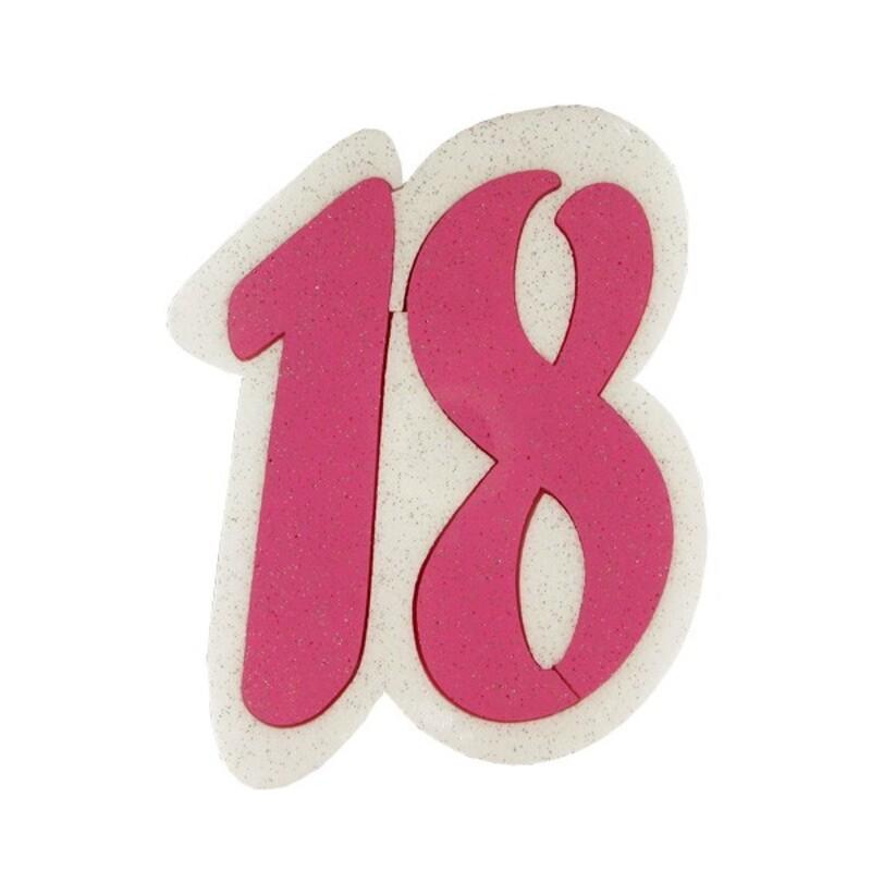 Dummy chiffre 18 rose Gatodéco