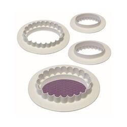 Découpoir ovale uni / cannelé PME (x4)