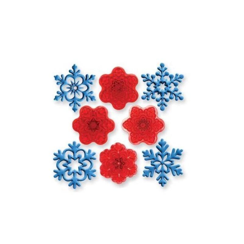 Découpoirs pate a sucre flocons de neige (jeu de 4)