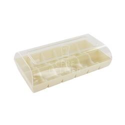 Boîte 12 macarons blanche