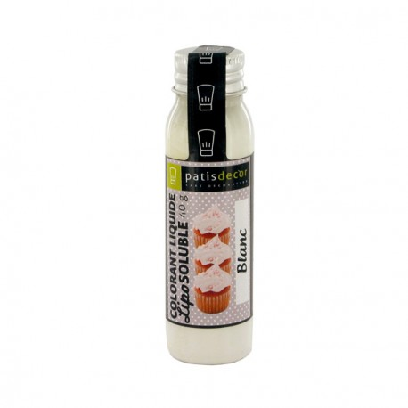 Colorant alimentaire liposoluble blanc Patisdécor 40 g