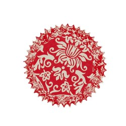 Caissette cupcake arabesques rouges (x50)