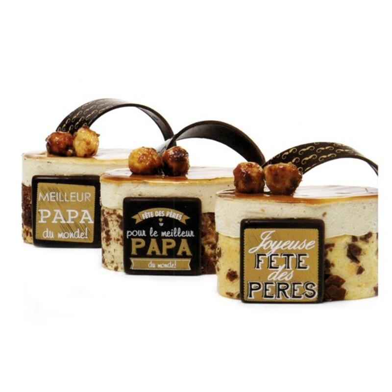 Plaquette chocolat Fête des Pères x72