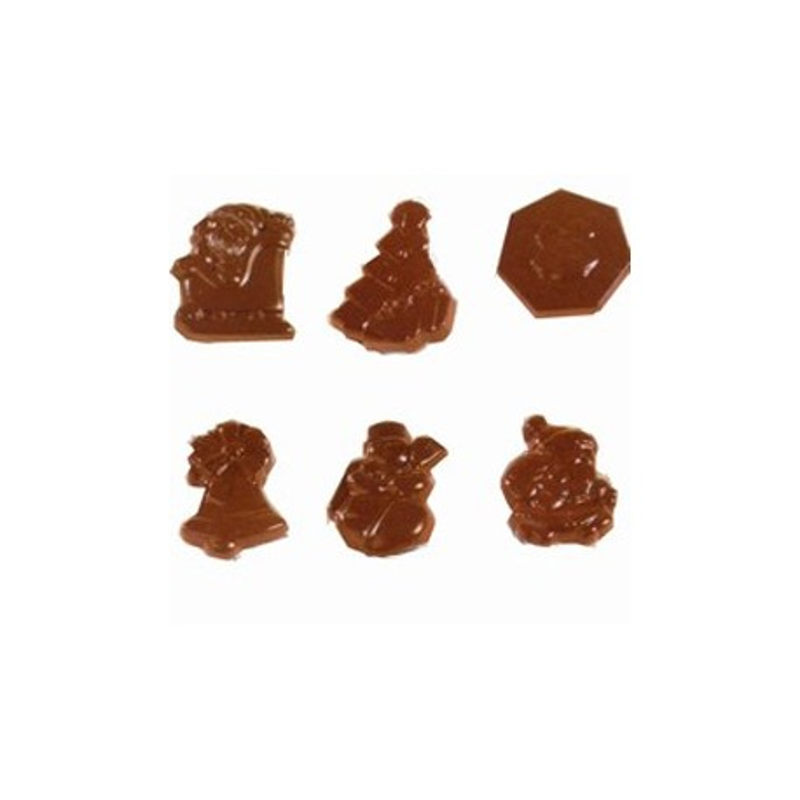 Moule chocolat 24 fritures de Noël