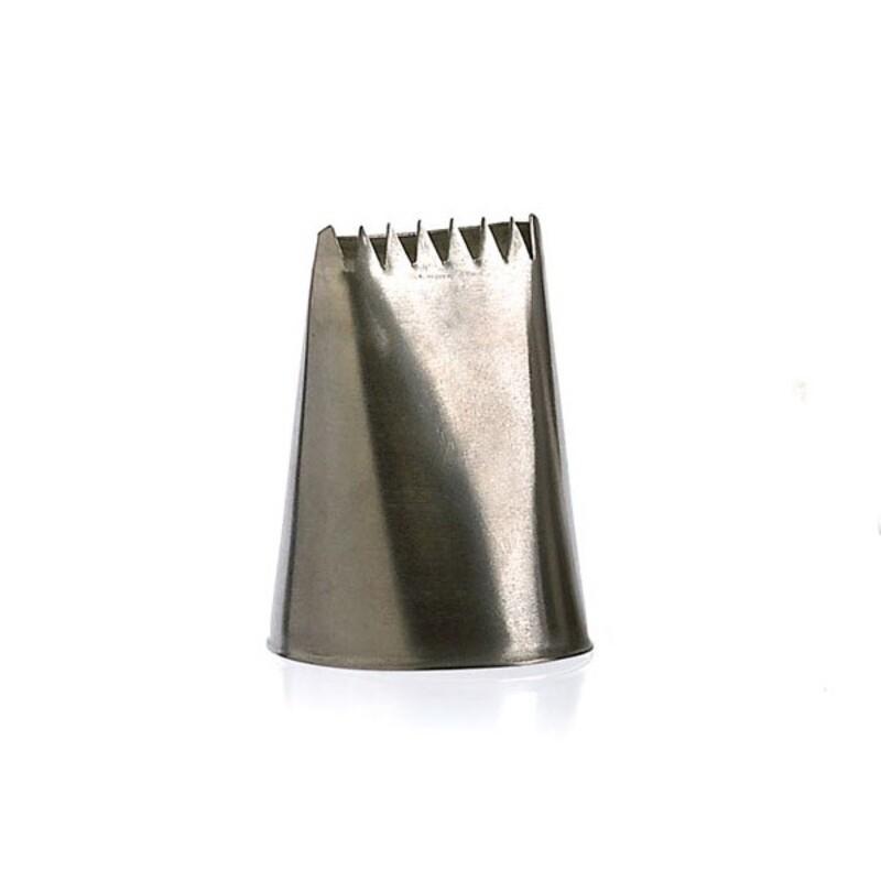 Douille à bûche large inox 28 mm