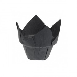 Caissette haute Tulipcup noire x200