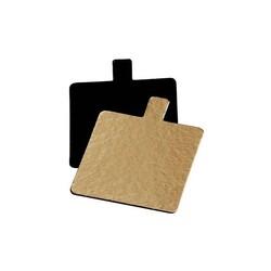 Languette carré carton Or/Noir 7 cm (x200)