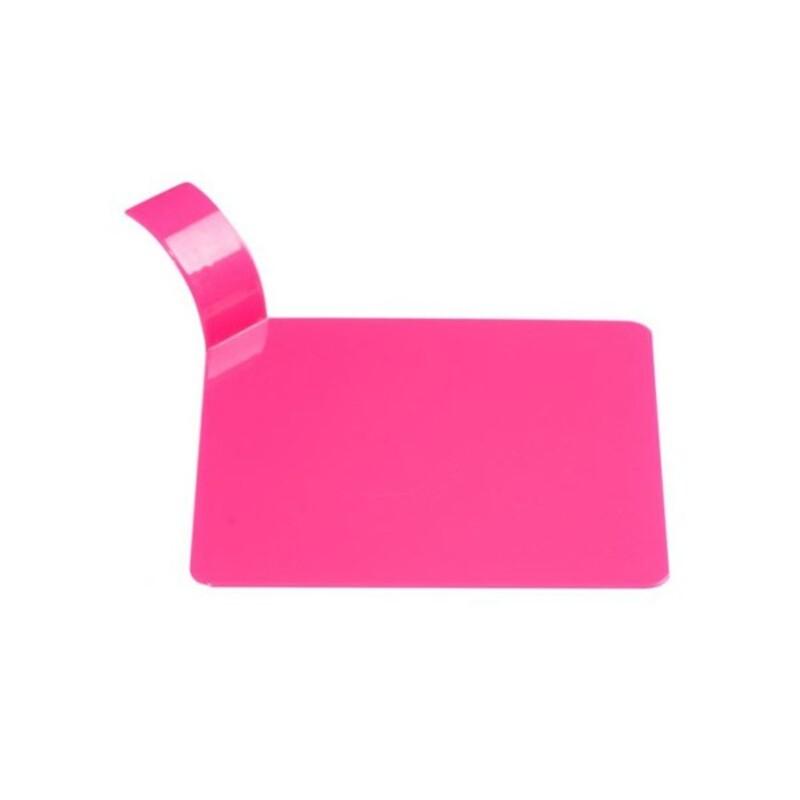 Languette carrée plastique fuchsia x100