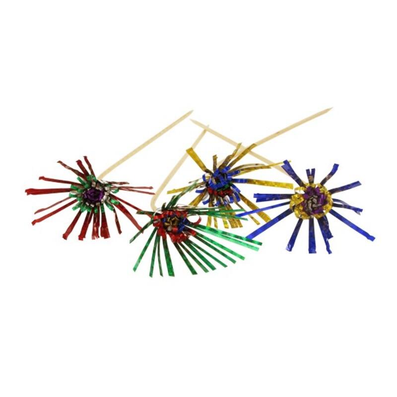 Fleurs d'artifice laser sur pique (x72)