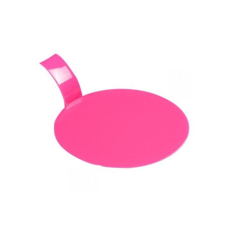 Languette ronde plastique fuchsia x100