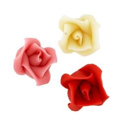Roses pâte d'amande assorties Patisdécor x5