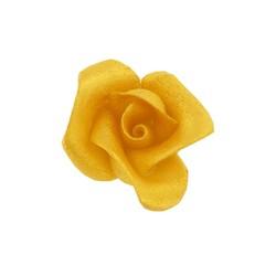 Roses pâte d'amande dorées Patisdécor (x5)