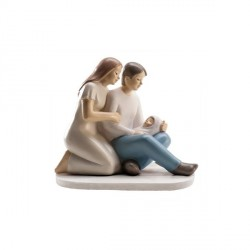 Sujet de baptême couple et bébé
