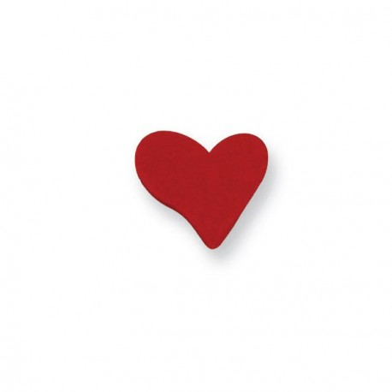 Coeurs rouges en sucre x6
