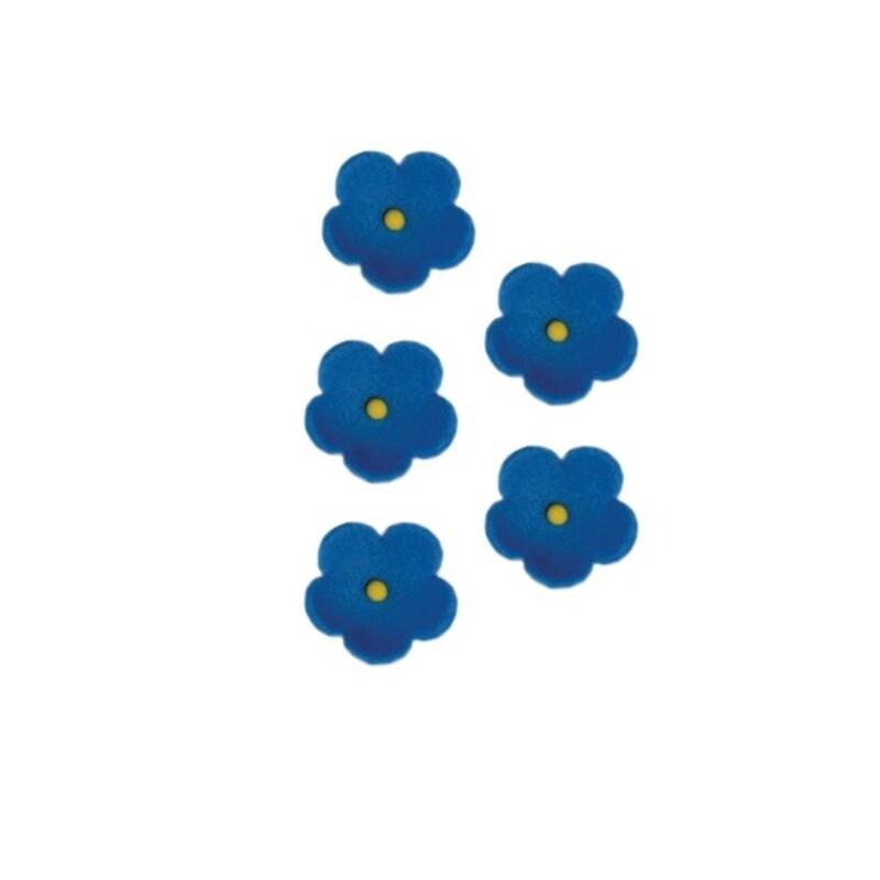 Fleurs en sucre bleues 25 mm x24