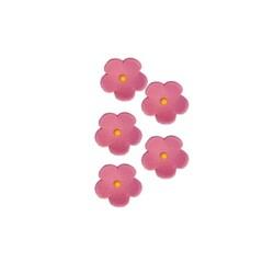 Fleurs en sucre roses 20 mm (x30)