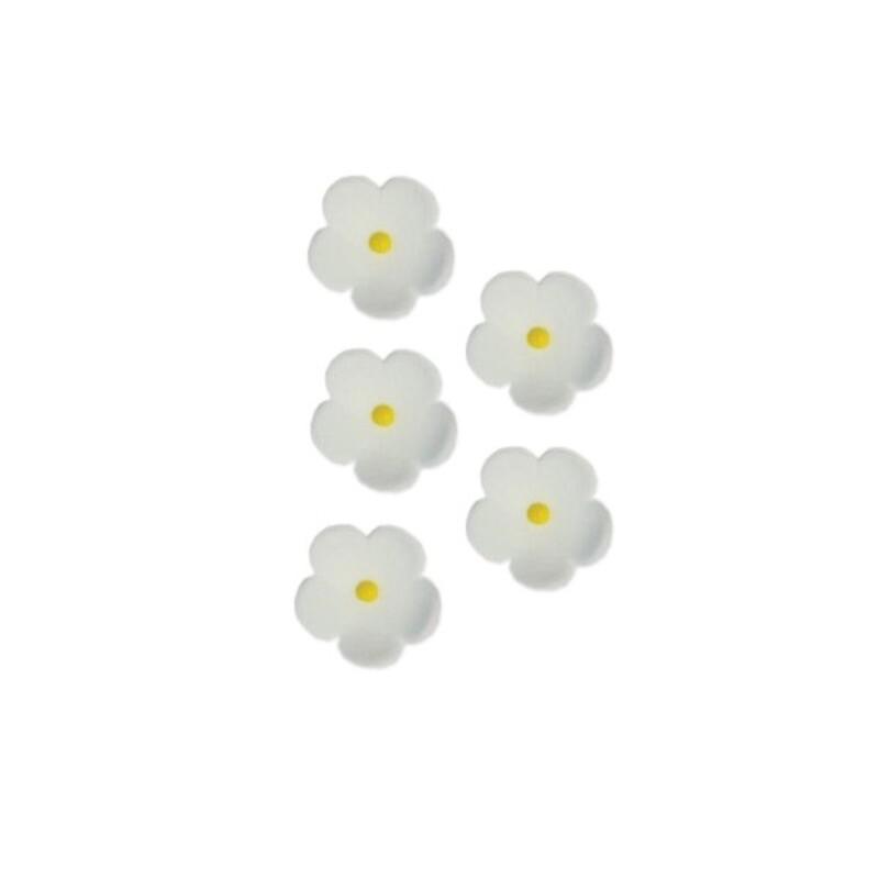 Fleurs en sucre blanches 20 mm (x30)