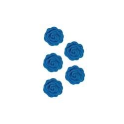 Roses en sucre bleues x12