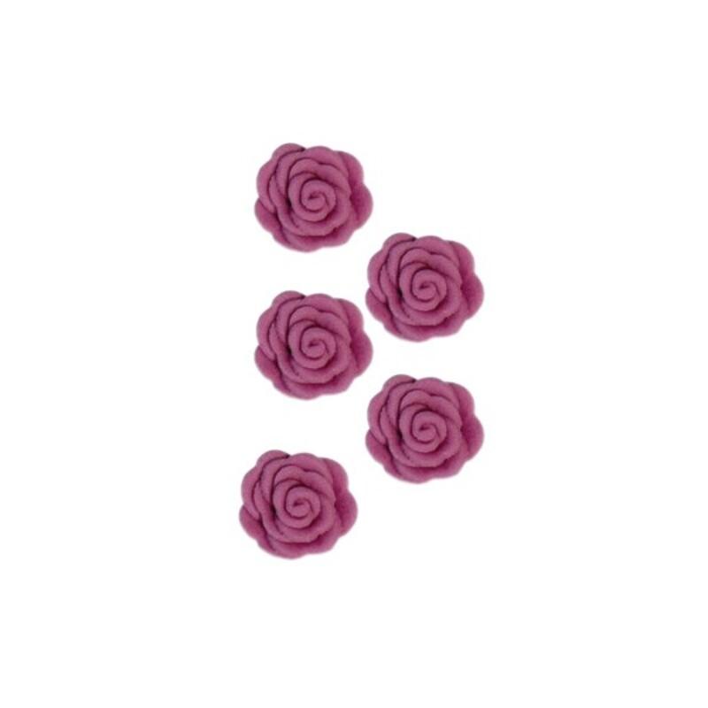 Roses en sucre lilas x12