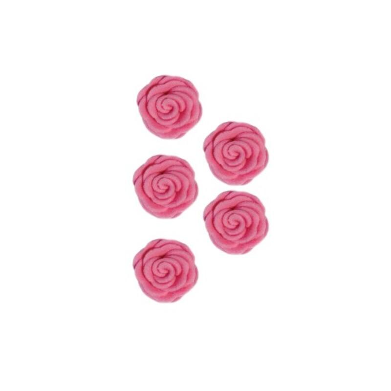 Roses en sucre roses x12