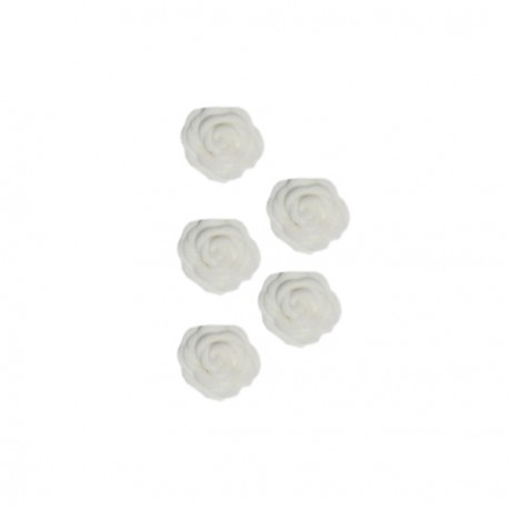 Roses en sucre blanches x12