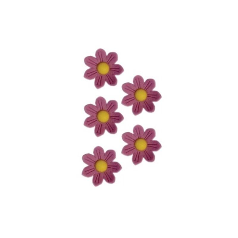 Marguerites en sucre lilas x12
