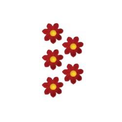 Marguerites en sucre rouges x12
