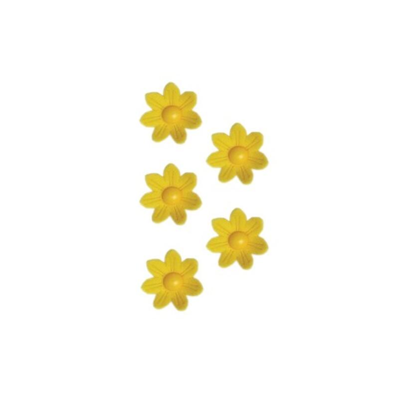 Marguerites en sucre jaunes x12