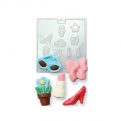 Moule chocolat PVC girly