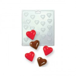 Moule chocolat PVC coeurs